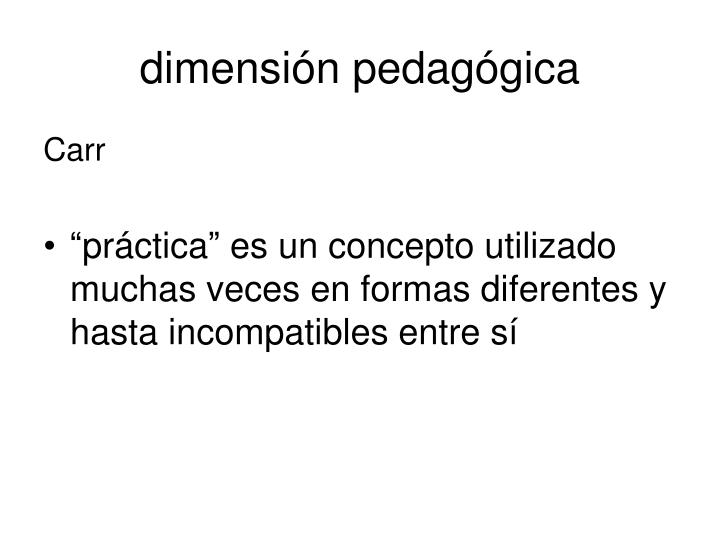 dimensión pedagógica