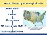 nested hierarchy of ecological units