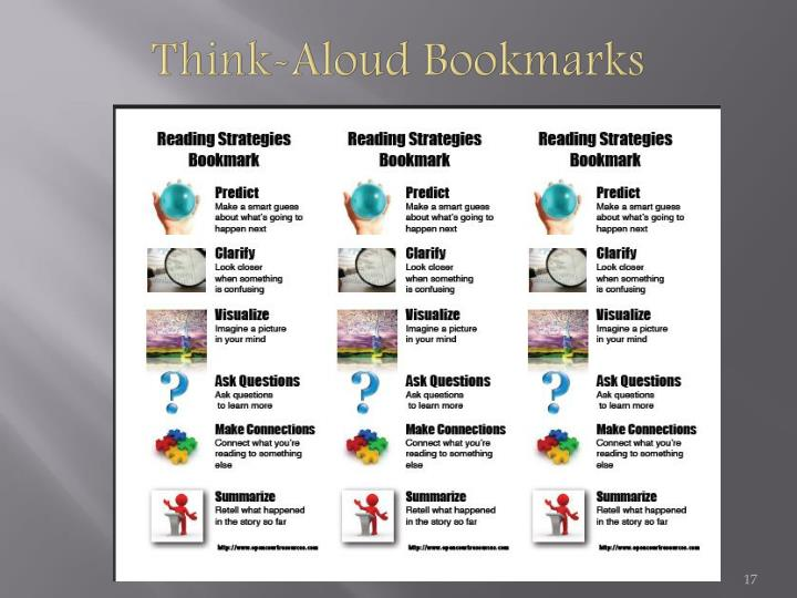 Think-Aloud Bookmarks
