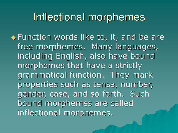 Inflectional morphemes
