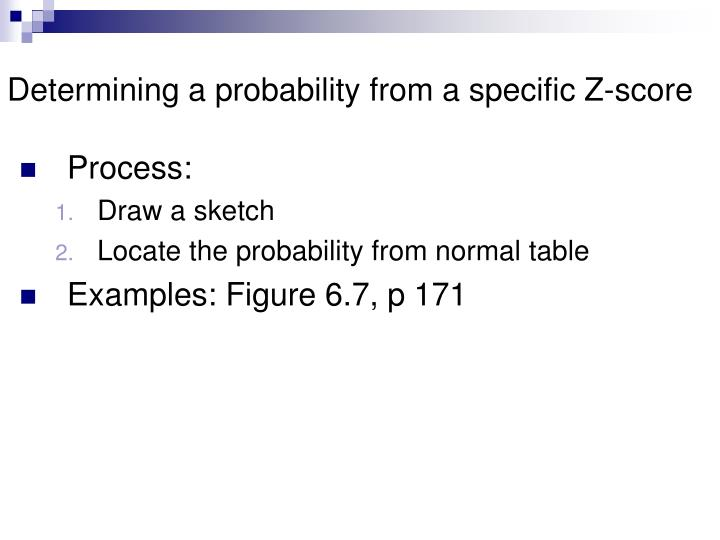 Determining a probability from a specific Z-score