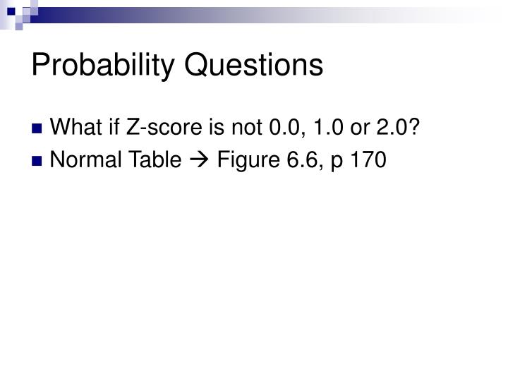 Probability Questions