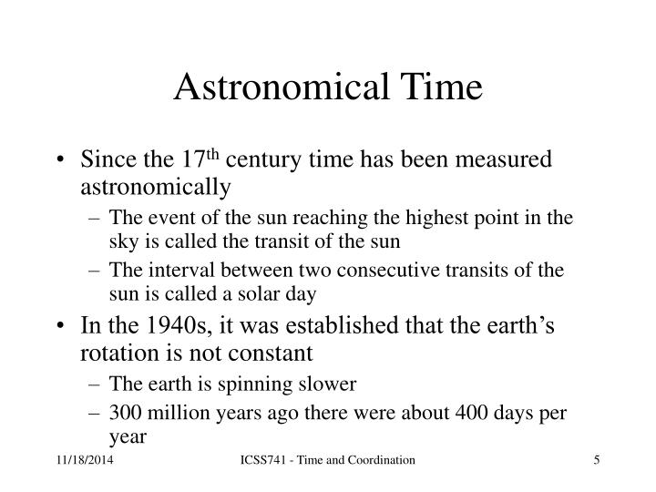 Astronomical Time