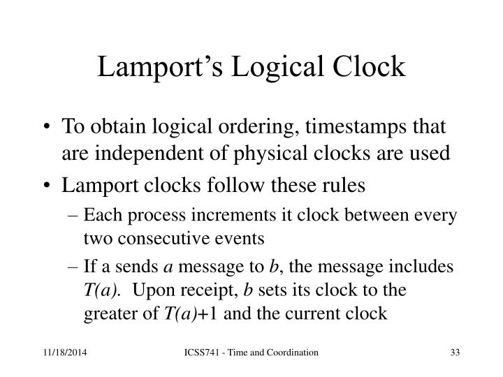 Lamport's Logical Clock