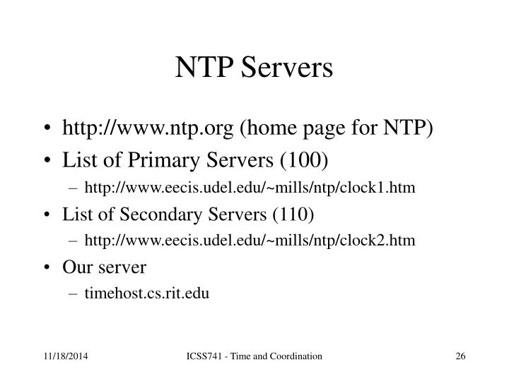 NTP Servers