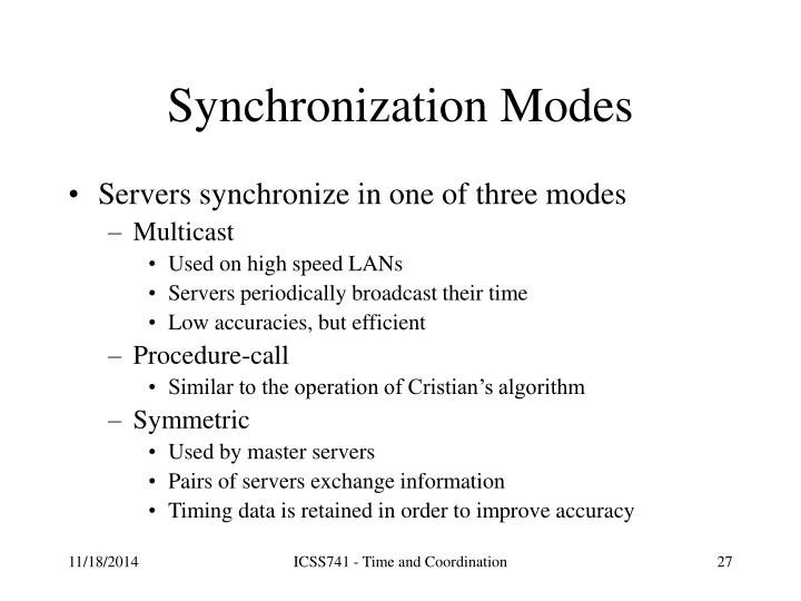 Synchronization Modes