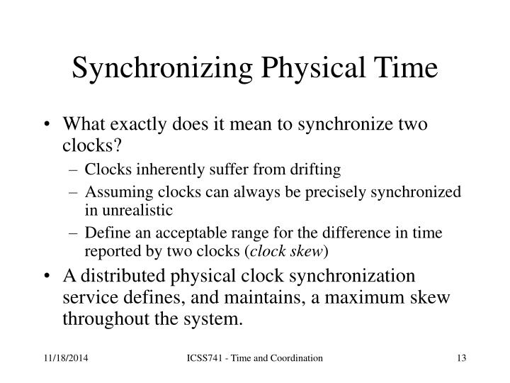 Synchronizing Physical Time