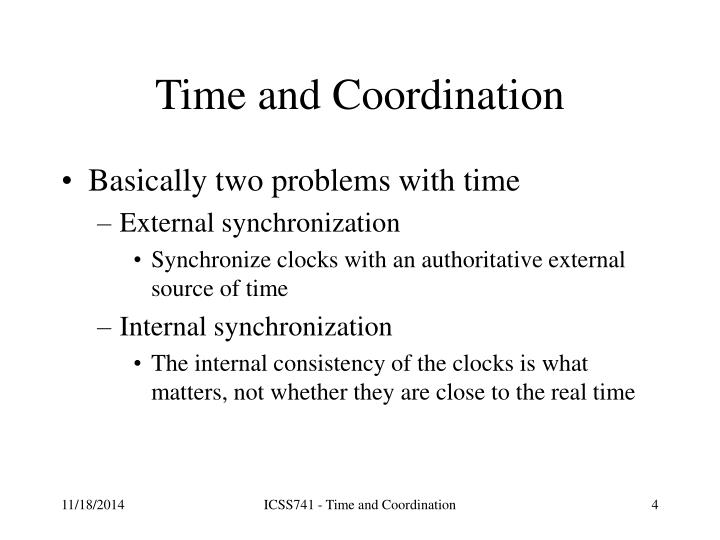Time and Coordination
