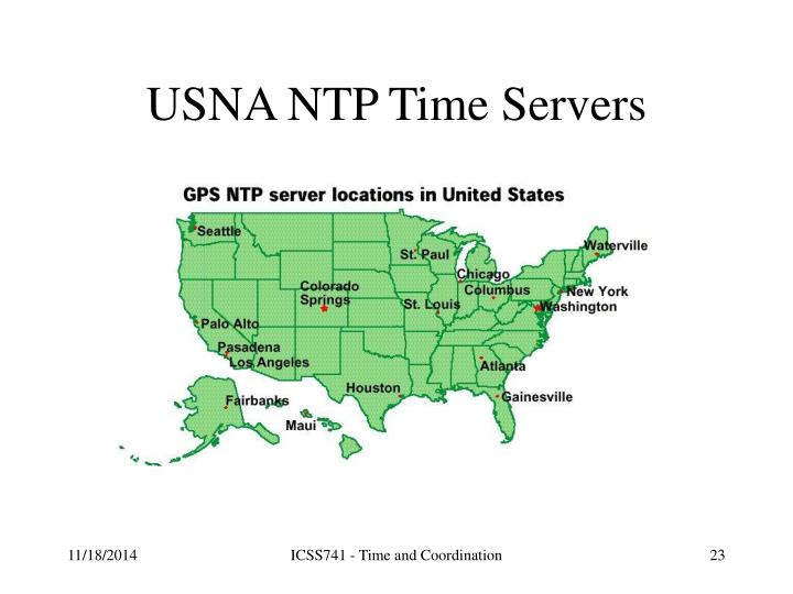 USNA NTP Time Servers