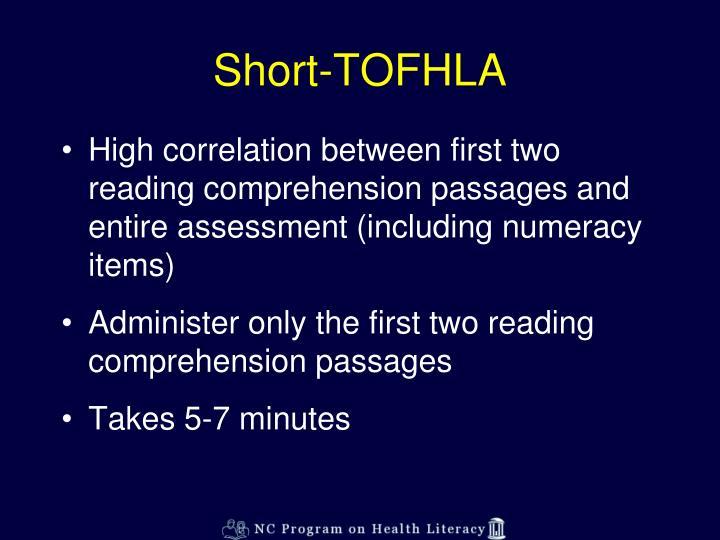 Short-TOFHLA
