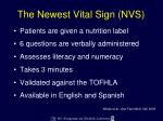 the newest vital sign nvs