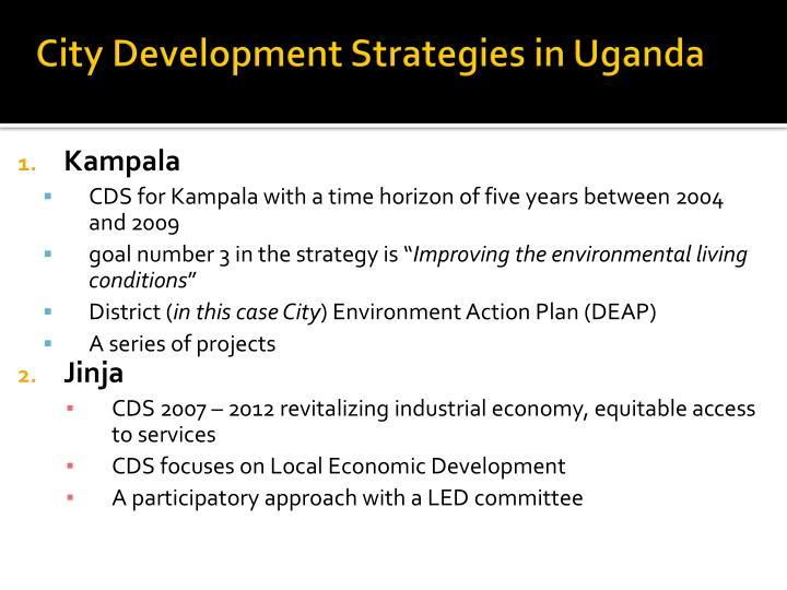 City Development Strategies in Uganda