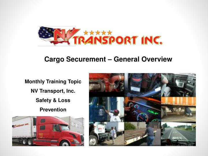 Cargo Securement – General Overview