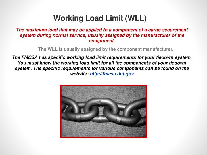 Working Load Limit (WLL)