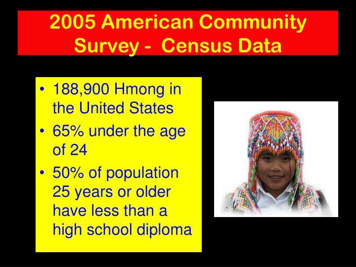 2005 American Community Survey -  Census Data
