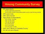 hmong community survey