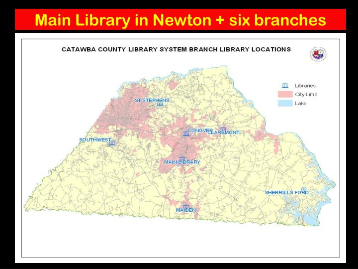 Main Library in Newton + six branches