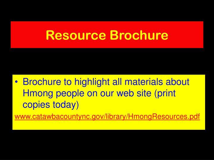 Resource Brochure