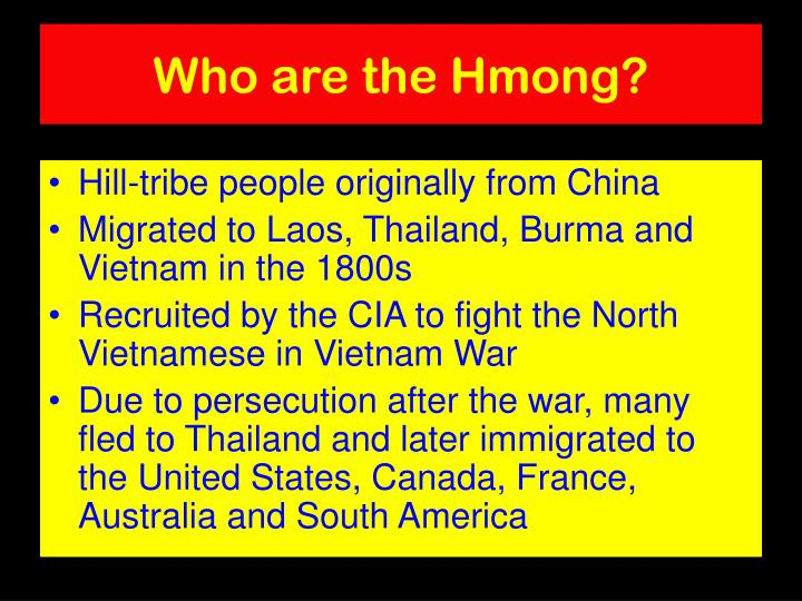 Who are the Hmong?
