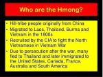 who are the hmong