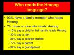 who reads the hmong language