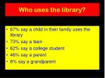 who uses the library