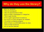 why do they use the library