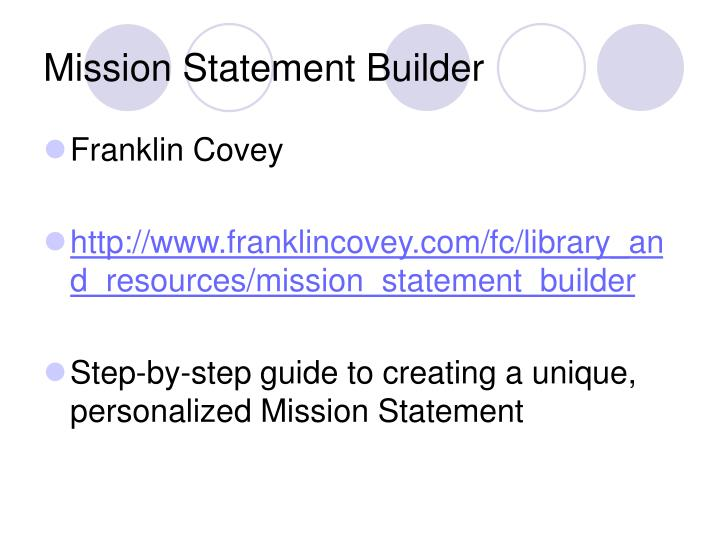 Mission Statement Builder