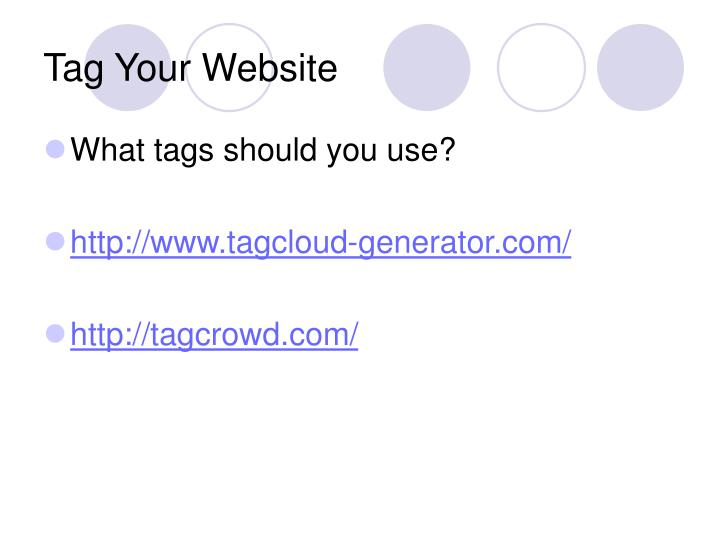 Tag Your Website