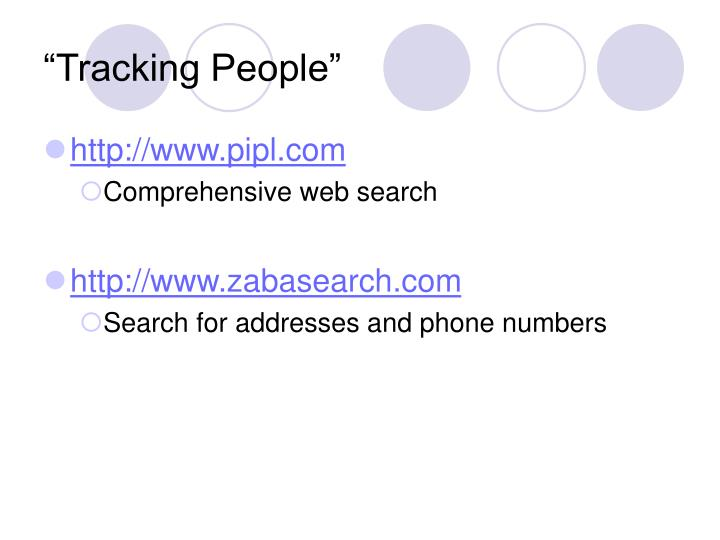 """Tracking People"""