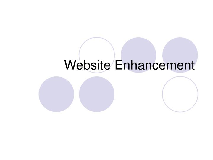 Website Enhancement