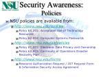 security awareness policies