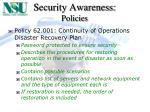 security awareness policies11