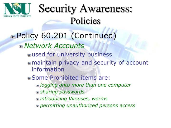 Security Awareness: