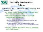 security awareness policies9