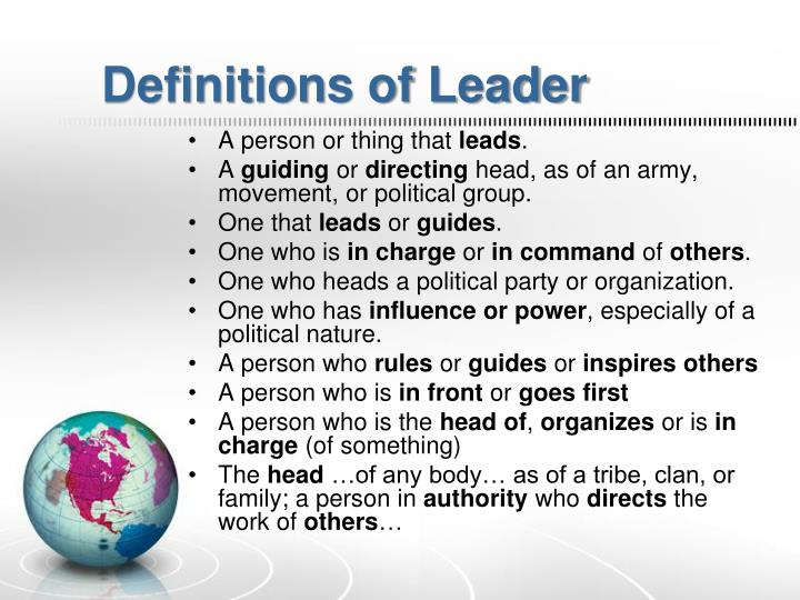 Definitions of Leader