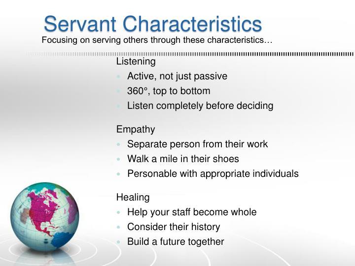 Servant Characteristics