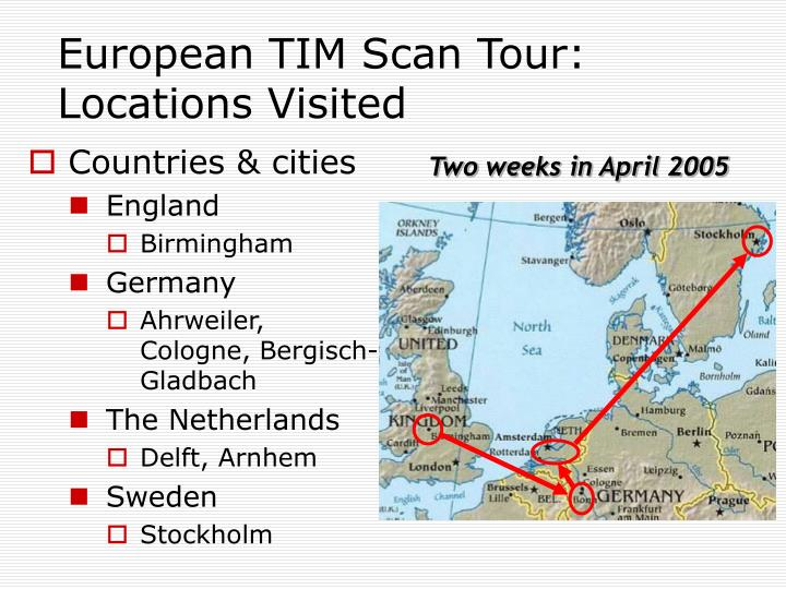 European TIM Scan Tour: