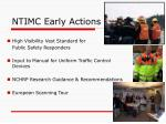 ntimc early actions