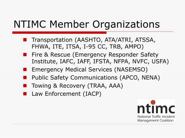 NTIMC Member Organizations