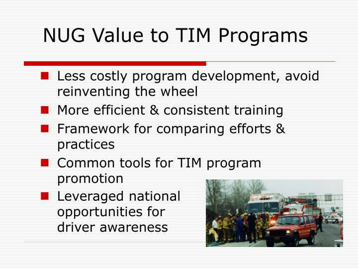 NUG Value to TIM Programs