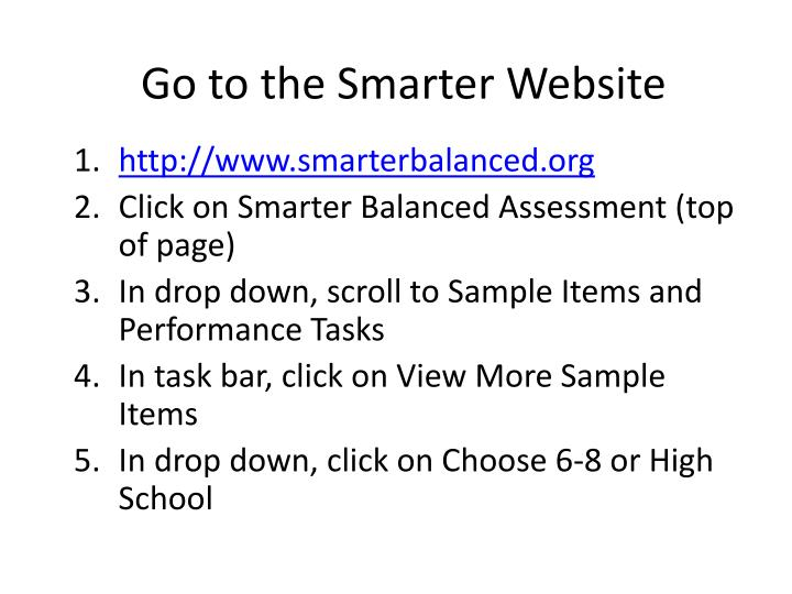 Go to the Smarter Website