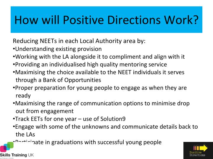 How will Positive Directions Work?