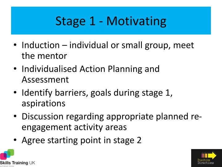 Stage 1 - Motivating