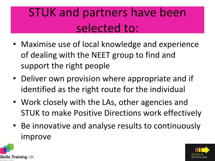 STUK and partners have been selected to: