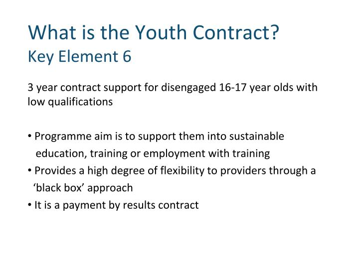 What is the Youth Contract?