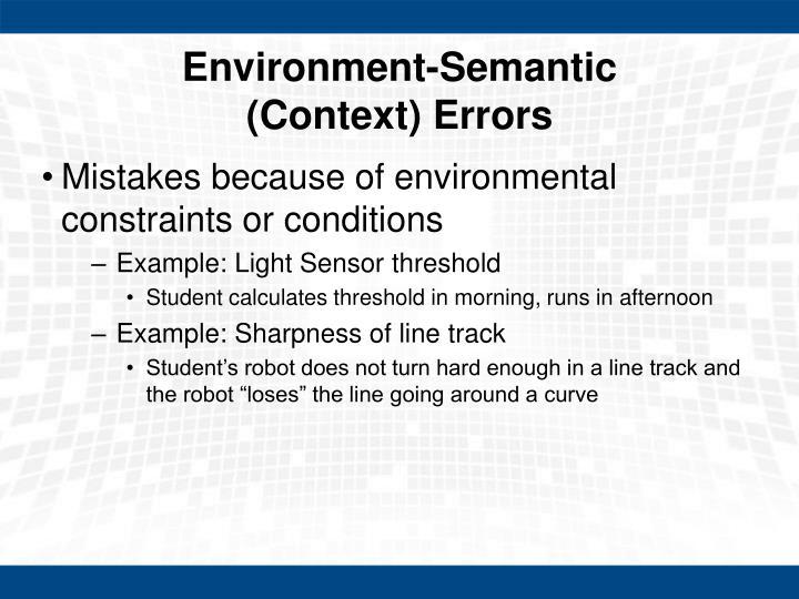 Environment-Semantic