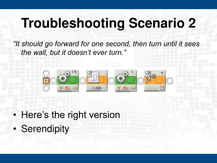 Troubleshooting Scenario 2