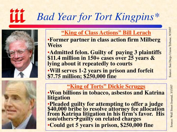 """King of Class Actions"" Bill Lerach"