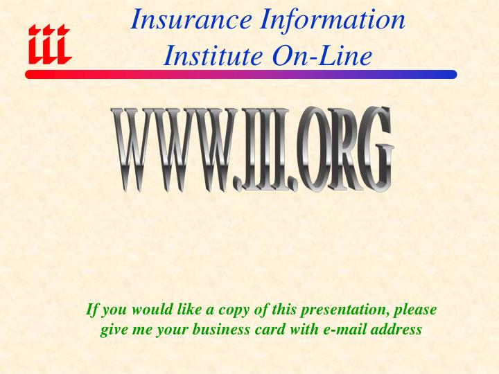 Insurance Information Institute On-Line